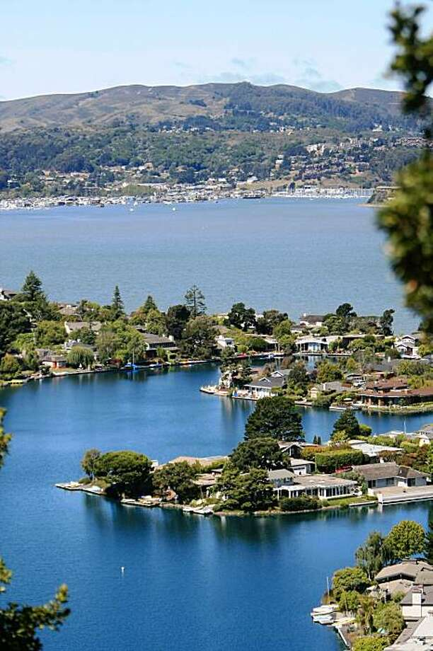 Beautiful million dollar houses have some amazing views of San Francisco located in Tiburon Calif., on August 3, 2009. Photo: Frederic Larson, The Chronicle