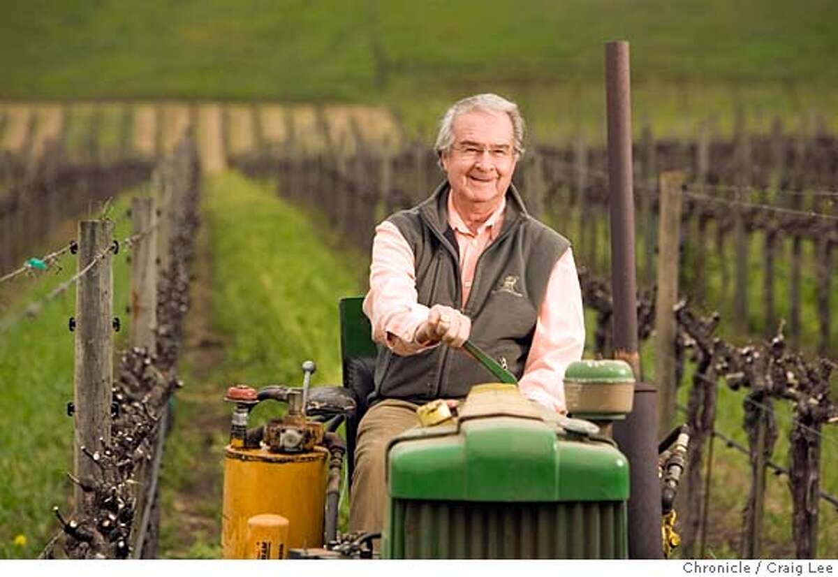 ###Live Caption:Warren Winiarski, recently sold his Stag's Leap Winery Cellars for $185 million and won the Judgment of Paris in 1976. He is now in semi-retirement, but still active in the vineyard. Photo of Warren on a 1944 or 1945 Deere tractor built after World War II that came with the vineyard when he bought it in 1970. He is in the S.L.V. Block #2 vineyard which produced the grapes for the winning wine of the 1976 Judgement of Paris. Craig Lee / The Chronicle###Caption History:Warren Winiarski, recently sold his Stag's Leap Winery Cellars for $185 million and won the Judgment of Paris in 1976. He is now in semi-retirement, but still active in the vineyard. Photo of Warren on a 1944 or 1945 Deere tractor built after World War II that came with the vineyard when he bought it in 1970. He is in the S.L.V. Block #2 vineyard which produced the grapes for the winning wine of the 1976 Judgement of Paris. Craig Lee / The Chronicle###Notes:Stag's Leap, Sue Furdek 707-261-8614 (office) 415-215-9742 (cell phone) Craig Lee 415-218-8597 clee@sfchronicle.com###Special Instructions:MANDATORY CREDIT FOR PHOTOG AND SF CHRONICLE/NO SALES-MAGS OUT