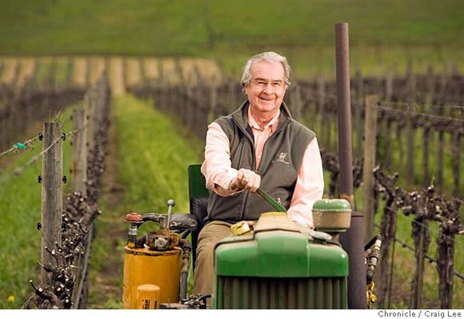 ###Live Caption:Warren Winiarski, recently sold his Stag's Leap Winery Cellars for $185 million and won the Judgment of Paris in 1976. He is now in semi-retirement, but still active in the vineyard. Photo of Warren on a 1944 or 1945 Deere tractor built after World War II that came with the vineyard when he bought it in 1970. He is in the S.L.V. Block #2 vineyard which produced the grapes for the winning wine of the 1976 Judgement of Paris.  Craig Lee / The Chronicle###Caption History:Warren Winiarski, recently sold his Stag's Leap Winery Cellars for $185 million and won the Judgment of Paris in 1976. He is now in semi-retirement, but still active in the vineyard. Photo of Warren on a 1944 or 1945 Deere tractor built after World War II that came with the vineyard when he bought it in 1970. He is in the S.L.V. Block #2 vineyard which produced the grapes for the winning wine of the 1976 Judgement of Paris.  Craig Lee / The Chronicle###Notes:Stag's Leap, Sue Furdek 707-261-8614 (office) 415-215-9742 (cell phone)  Craig Lee 415-218-8597 clee@sfchronicle.com###Special Instructions:MANDATORY CREDIT FOR PHOTOG AND SF CHRONICLE/NO SALES-MAGS OUT Photo: Craig Lee