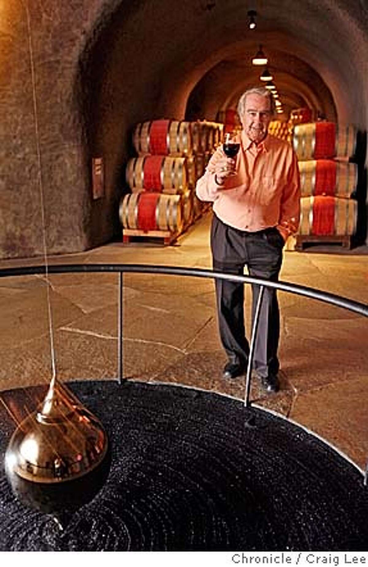 ###Live Caption:Warren Winiarski is the founder of Stag's Leap Wine Cellars in Napa. The winery has just been sold to Marchese Pieiro Antinori and Ste. Michelle Wine Estates, a conglomerate. Photo of Warren Winiarski in the pedulum room in the estate wine caves. The pendulum is a metaphor for the passage of time and the aging of wine. Event on 7/31/07 in Napa.###Caption History:STAGS_165_cl.JPG Warren Winiarski is the founder of Stag's Leap Wine Cellars in Napa. The winery has just been sold to Marchese Pieiro Antinori and Ste. Michelle Wine Estates, a conglomerate. Photo of Warren Winiarski in the pedulum room in the estate wine caves. The pendulum is a metaphor for the passage of time and the aging of wine. Event on 7/31/07 in Napa. photo by Craig Lee / The Chronicle###Notes:###Special Instructions:MANDATORY CREDIT FOR PHOTOG AND SF CHRONICLE/NO SALES-MAGS OUT