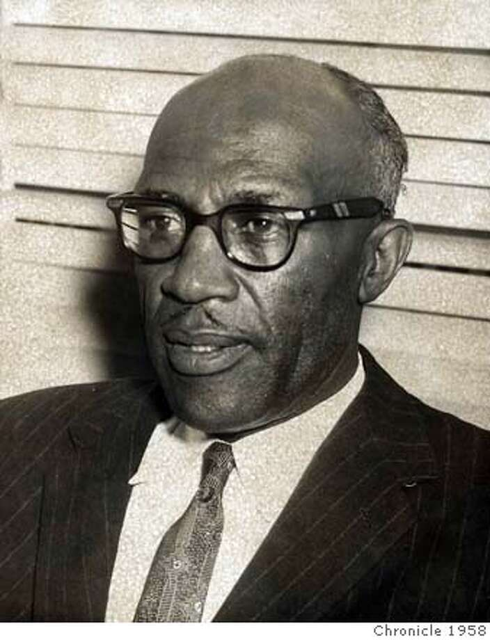 ###Live Caption:John Wesley Bussey, first Black municipal judge in San Francisco, appointed in 1958###Caption History:John Wesley Bussey, first Black municipal judge in San Francisco, appointed in 1958###Notes:###Special Instructions: Photo: Bill Young