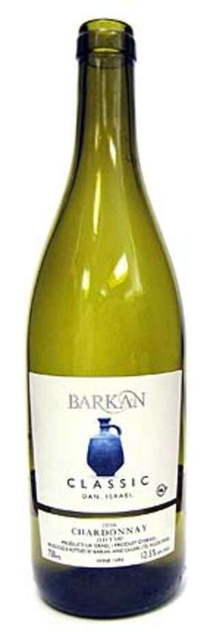 ###Live Caption:2006 Chardonnay. Barkan Classic. Dan, Israel.###Caption History:2006 Chardonnay. Barkan Classic. Dan, Israel.###Notes:###Special Instructions: Photo: Erick Wong / SFC
