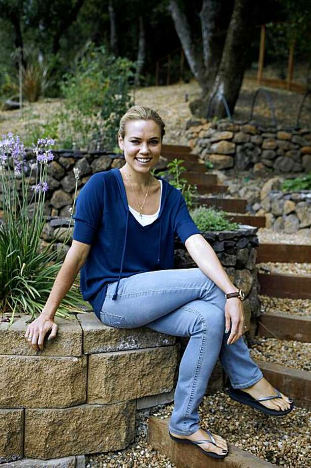 Swimmer Natalie Coughlin, who won six medals at the Beijing Olympics, photographed in her garden at her home on Thursday August 6, 2009 in Lafayette, Calif. Photo: Lea Suzuki, The Chronicle