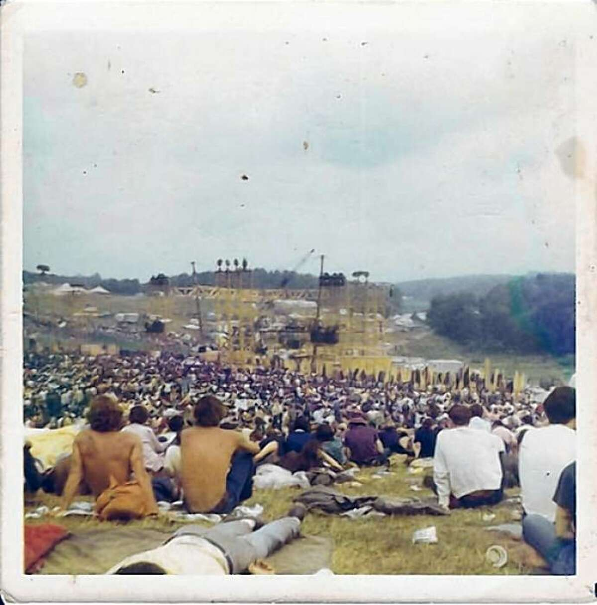 This Polaroid shows Woodstock just before the rains came on Saturday.