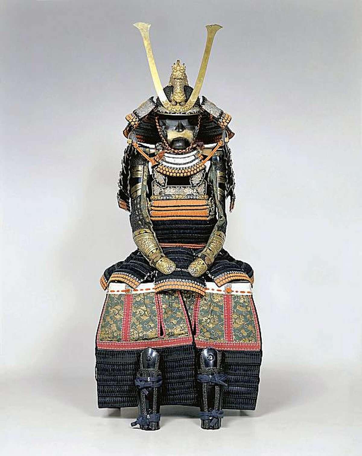 A samurai's suit of armor, on exhbit as part of the Asian Art Museum's