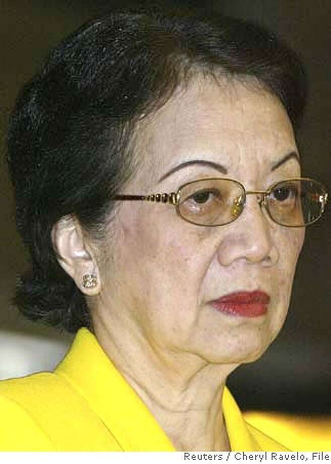 "###Live Caption:Former Philippine President Corazon Aquino attends a mass celebrating the 20th anniversary of ""People Power"" at Edsa Shrine in Manila in this February 25, 2006 file photo. Aquino, 75, has colon cancer, her family said on March 24, 2008. Aquino was diagnosed with the disease after a persistent cough and other symptoms surfaced between Christmas and New Year, her daughter Kris said on national television. REUTERS/Cheryl Ravelo/Files (PHILIPPINES)###Caption History:Former Philippine President Corazon Aquino attends a mass celebrating the 20th anniversary of ""People Power"" at Edsa Shrine in Manila in this February 25, 2006 file photo. Aquino, 75, has colon cancer, her family said on March 24, 2008. Aquino was diagnosed with the disease after a persistent cough and other symptoms surfaced between Christmas and New Year, her daughter Kris said on national television. REUTERS/Cheryl Ravelo/Files (PHILIPPINES)###Notes:File photo shows former Philippine President Aquino attending a mass celebrating the anniversary of ""People Power"" in Manila###Special Instructions: Photo: CHERYL RAVELO"