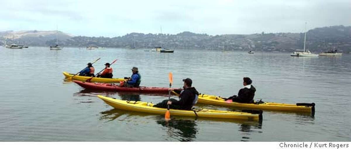 Sea Trek in Sausalito runs Kayak trips in Richardson Bay and along the Sausalito water front . 10/30/04 in Sausalito,CA. KURT ROGERS/THE CHRONICLE