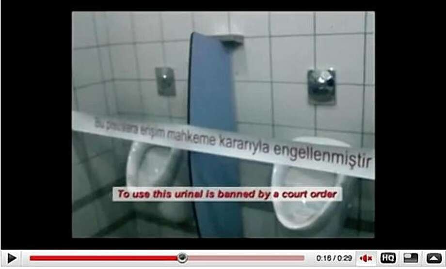 A YouTube posting derides Turkey's law banning access to YouTube. Photo: Unknown, YouTube