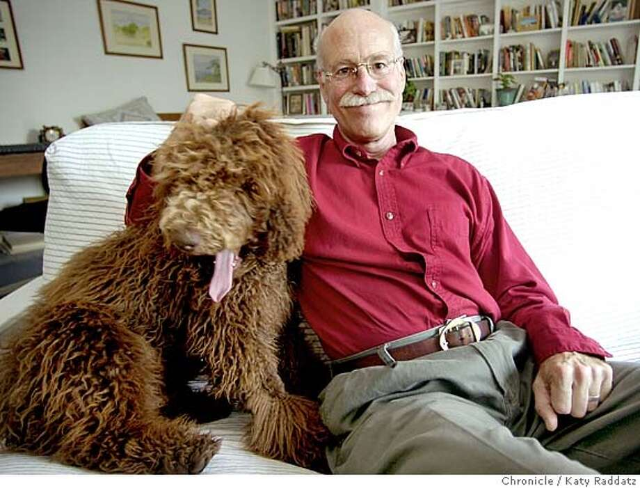 "###Live Caption:Tobias Wolff (cq), one of America's most important short story writers, author of ""This Boy's Life"" and ""Old School."" Wolff teaches English at Stanford's Wallace Stegner School of Creative Writing, and is very fond of his family dog, ""Paddy"" a standard poodle.###Caption History:WOLFF24046_rad.jpg Tobias Wolff (cq), one of America's most important short story writers, author of ""This Boy's Life"" and ""Old School."" Wolff teaches English at Stanford's Wallace Stegner School of Creative Writing, and is very fond of his family dog, ""Paddy"" a standard poodle. KATY RADDATZ / The Chronicle Tobias Wolff, who teaches English at Stanford's Wallace Stegner School of Creative Writing, relaxes with his dog Paddy.###Notes:###Special Instructions:CAT MANDATORY CREDIT FOR PHOTOG AND SF CHRONICLE/NO SALES-MAGS OUT Photo: KATY RADDATZ"