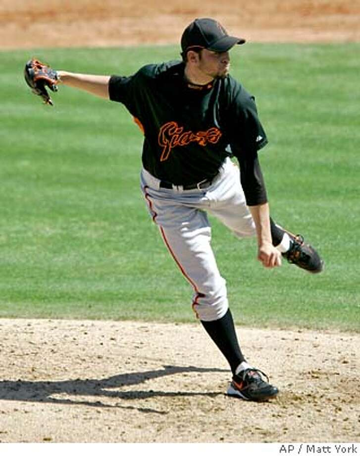 ###Live Caption:San Francisco Giants' Jonathan Sanchez pitches to the Los Angeles Angels in the third inning of a spring training baseball game Thursday, March 20, 2008, in Phoenix. (AP Photo/Matt York)###Caption History:San Francisco Giants' Jonathan Sanchez pitches to the Los Angeles Angels in the third inning of a spring training baseball game Thursday, March 20, 2008, in Phoenix. (AP Photo/Matt York)###Notes:Jonathan Sanchez###Special Instructions:EFE OUT Photo: Matt York