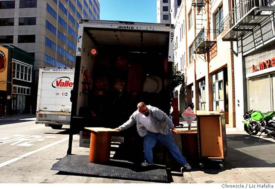 ###Live Caption:Justin Santos from United Cancer Research, receiving 30 cubic feet of office furniture from Heald College in downtown San Francisco on Monday, March 10, 2008. iReuse is a Marin based firm, who organized and collected donated items from Heald and is donating them to needy nonprofits. Photo by Liz Hafalia / San Francisco Chronicle###Caption History:Justin Santos from United Cancer Research, receiving 30 cubic feet of office furniture from Heald College in downtown San Francisco on Monday, March 10, 2008. iReuse is a Marin based firm, who organized and collected donated items from Heald and is donating them to needy nonprofits. Photo by Liz Hafalia / San Francisco Chronicle###Notes:Justin Santos from United Cancer Research, receiving 30 cubic feet of office furniture from Heald College in downtown San Francisco on Monday, March 10, 2008. iReuse is a Marin based firm, who organized and collected donated items from Heald and is dona###Special Instructions:�2008, San Francisco Chronicle/ Liz Hafalia  MANDATORY CREDIT FOR PHOTOG AND SAN FRANCISCO CHRONICLE. NO SALES- MAGS OUT. Photo: Liz Hafalia