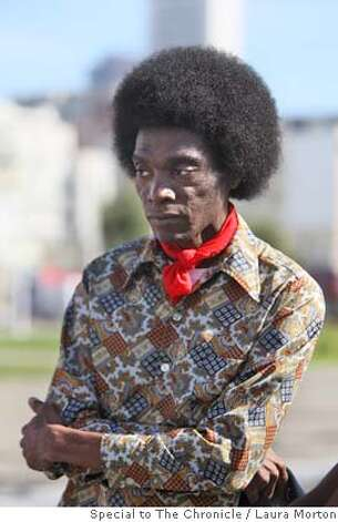 "Kehn Coleman dressed in 1970s inspired clothing to play an extra on the set of the movie ""Milk"" at Civic Center Plaza in San Francisco, Calif. on Sunday, March 09, 2008. Photo by Laura Morton / Special to The Chronicle Photo: Laura Morton"