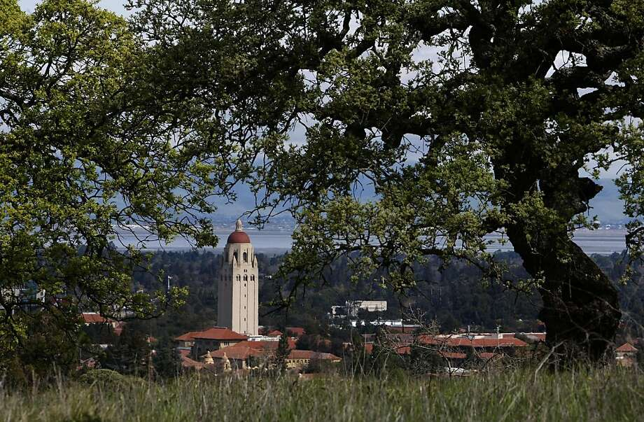 "Tower, along the ""Dish"" trail on the Stanford University campus ..."