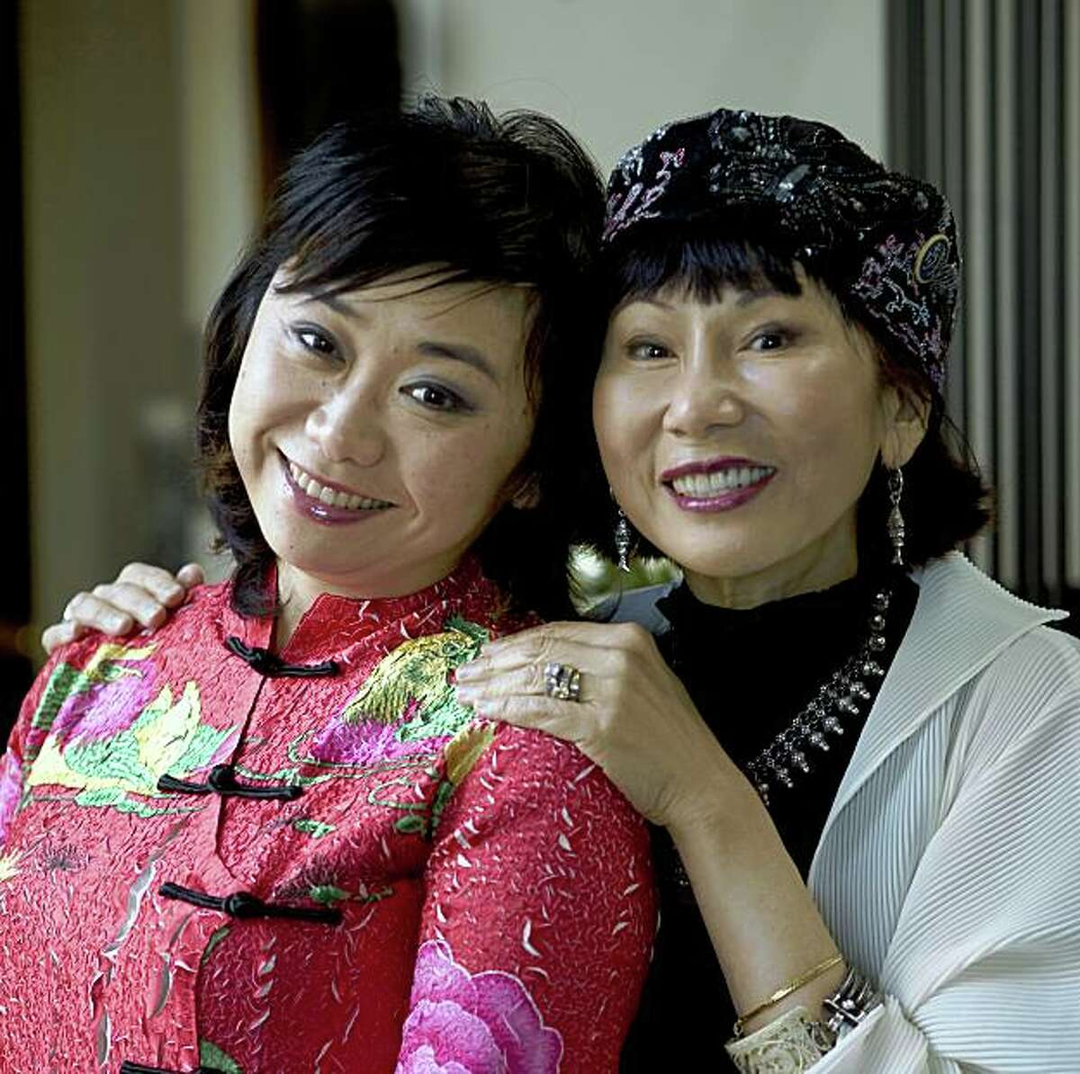 Zheng Cao, left, the lead in the San Francisco Opera's new production