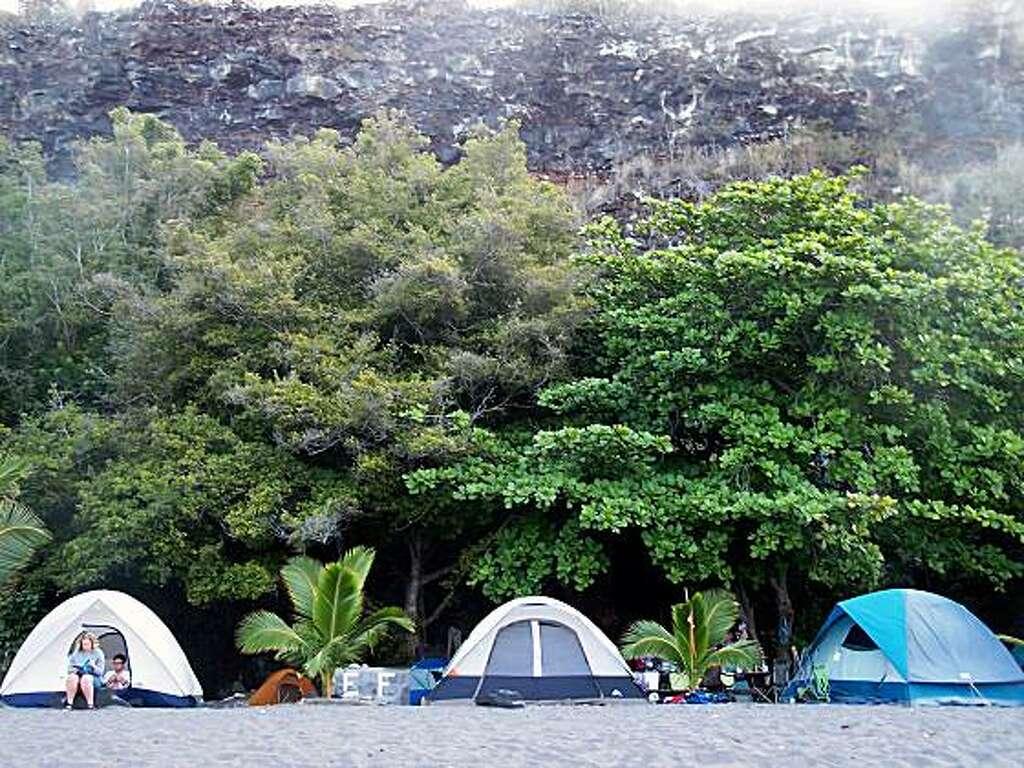 At Hou0027okena Beach Park on the west coast of Hawaiiu0027s Big Island adventurers & See the real Hawaii from a camper van - SFGate