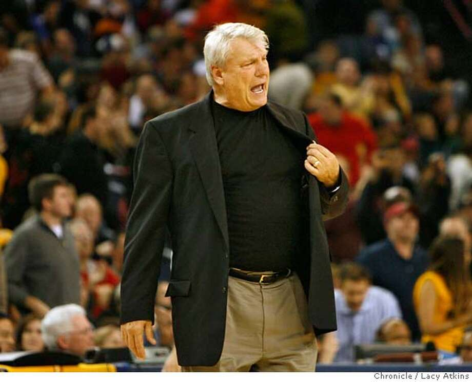 ###Live Caption:California Golden State Warriors head coah Don Nelson yells during the game against the New York Knicks, Sunday January 27, 2008, in Oakland, Ca. (Lacy Atkins San Francisco Chronicle)###Caption History:California Golden State Warriors head coah Don Nelson yells during the game against the New York Knicks, Sunday January 27, 2008, in Oakland, Ca. (Lacy Atkins San Francisco Chronicle)###Notes:###Special Instructions: Photo: Lacy Atkins