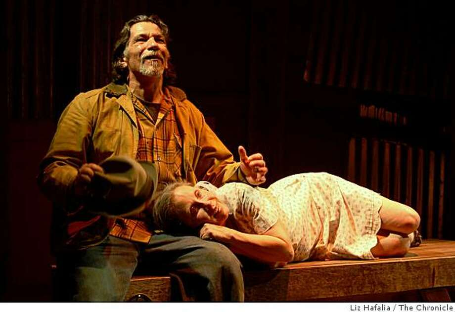 """Luis Saguar and Denise Blasor in the premiere of """"June in a Box,"""" on Friday, March 7 2008, by playwright Octavio Solis, playing at Intersection for the Arts in San Francisco, Calif.  Photo by Liz Hafalia / San Francisco Chronicle Photo: Liz Hafalia, The Chronicle"""