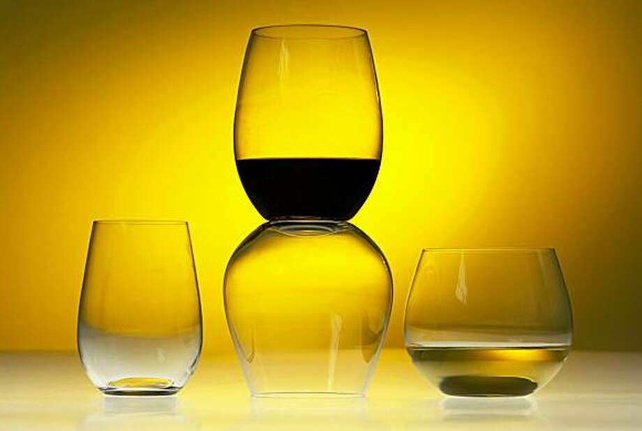Riedel's O Series, a line of stemless wine glasses. Photo: Craig Lee, The Chronicle