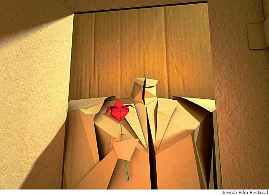 """""""Hardcover & Paperback,""""  a love story between two origami figures, is part of """"Jewtoons,"""" the animation program at the San Francisco Jewish Film Festival. A still from the film Hardcover and Paperback, courtesy of SFJFF. Photo: Jewish Film Festival"""