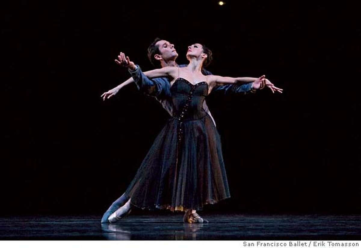"""###Live Caption:Lorena Feijoo and Damian Smith perform Program 4 of the San Francisco's Ballet, """"Robbins' In The Night."""" © Erik Tomasson / San Francisco Ballet###Caption History:Lorena Feijoo and Damian Smith perform Program 4 of the San Francisco's Ballet, """"Robbins' In The Night."""" � Erik Tomasson / San Francisco Ballet###Notes:###Special Instructions:"""