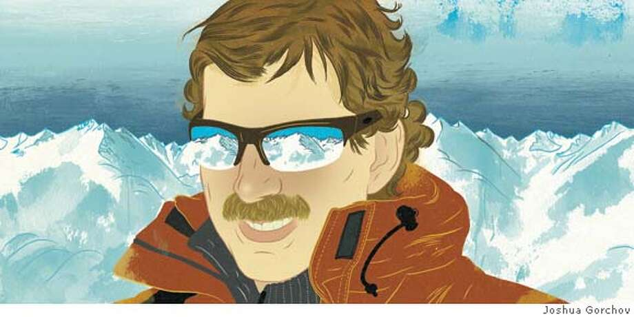 Illustrated portrait of Troy Caldwell for BRIGHT IDEAS column in 3/9/08 issue of Sunday Magazine