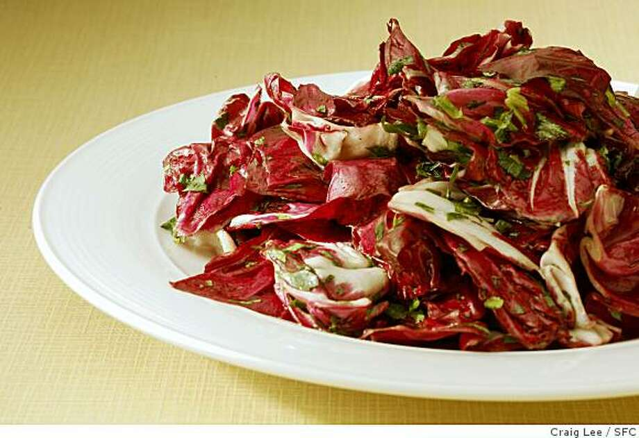 Soup and Salads. Photo of Radicchio and Parsley Salad. Food styled by Cindy Lee.Craig Lee / The Chronicle Photo: Craig Lee, SFC
