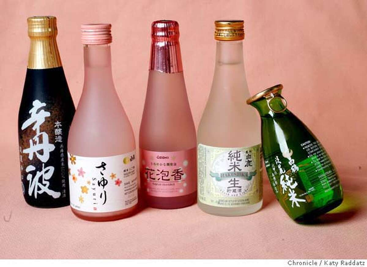 A selection of Japanese sake served at the bar at Cafe Mum's, inside the Hotel Tomo, 1800 Sutter St., in Japantown, San Francisco, Calif. on Tuesday, Feb. 26, 2008. Photo by Katy Raddatz / The Chronicle