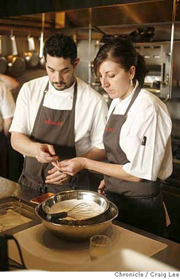 ###Live Caption:Deanie Hickox Fox, pastry chef at Ubuntu restaurant in Napa, making her Frozen Meyer Lemon Yogurt Parfait. Her husband, Jeremy Fox, is helping her.  Craig Lee / The Chronicle###Caption History:Deanie Hickox Fox, pastry chef at Ubuntu restaurant in Napa, making her Frozen Meyer Lemon Yogurt Parfait. Her husband, Jeremy Fox, is helping her.  Craig Lee / The Chronicle###Notes:Ubuntu restaurant 707-251-5656  Craig Lee 415-218-8597 clee@sfchronicle.com###Special Instructions:MANDATORY CREDIT FOR PHOTOG AND SF CHRONICLE/NO SALES-MAGS OUT Photo: Craig Lee