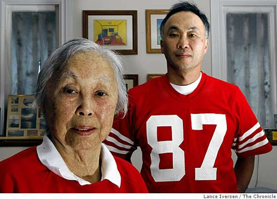 "San Francisco residents Florence ""Lookie"" Chinn and her son Brian Chinn together have held season tickets since the 1946 arenêt looking forward to the drive to Santa Clara to see their beloved 49ers.  ""It really just won't be the same,"" said Brian. ""They're the San Francisco 49ers, not the Silicon Valley 49ers.  We used to be the city that knew how.  I'm hoping that we figure out how to keep them here like we kept the Giants here."" Photo: Lance Iversen, The Chronicle"
