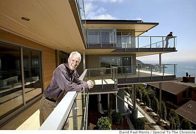Frank Levinson shows off his eco-friendly home July 2, 2009 in Tiburon, Calif. (Photograph by David Paul Morris/Special to The Chronicle) Photo: David Paul Morris, Special To The Chronicle