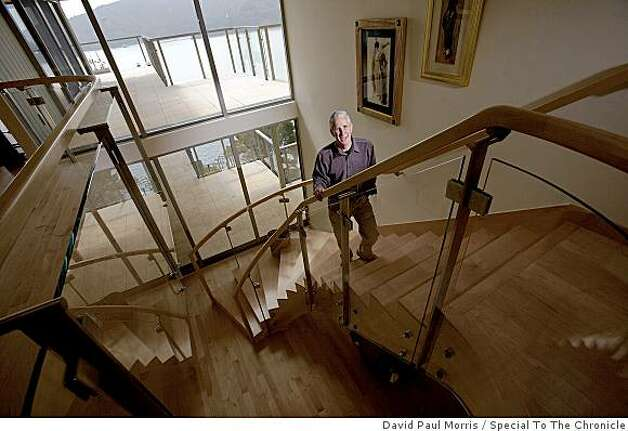 Frank Levinson shows off his eco-friendly home July 2, 2009 in Tiburon, Calif. Photo: David Paul Morris, Special To The Chronicle