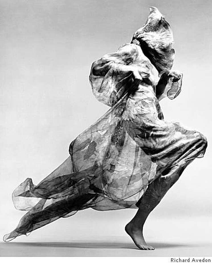 """Jean Shrimpton, evening dress by Cardin, Paris studio, January, 1970"" gelatin silver print by Richard Avedon Photo: Richard Avedon"