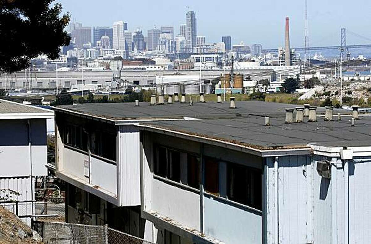 San Francisco's Hunters Point public housing known as Hunters View where many of the apartments are vacant and others are in desperate need of repair.