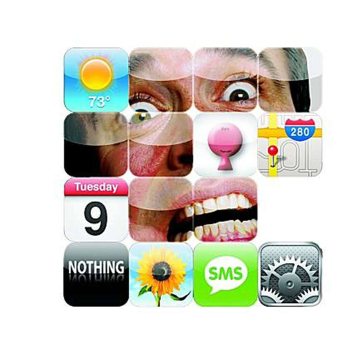 illustration by tracy cox for article on inane iphone applications