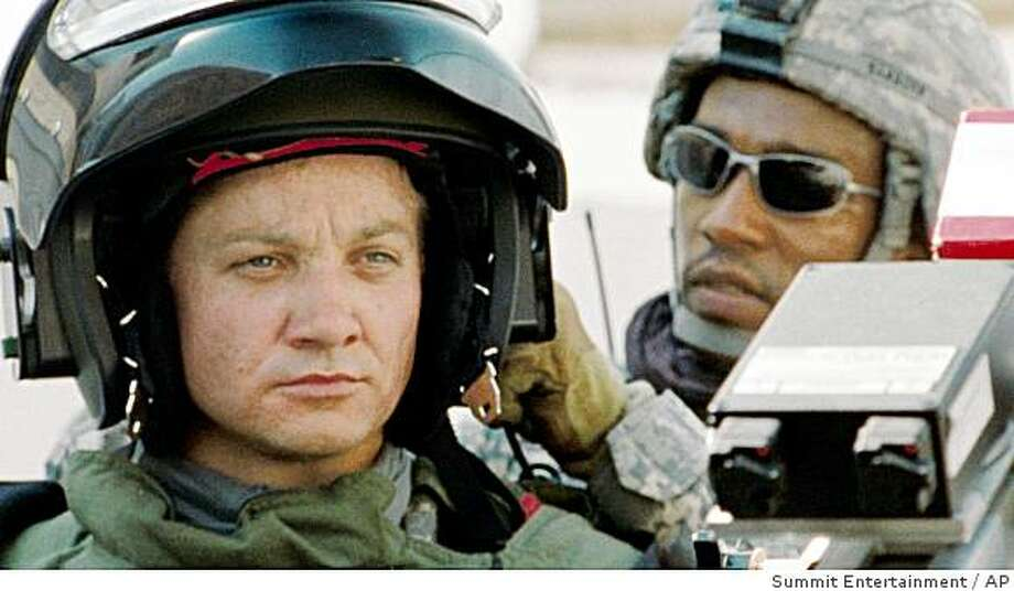 "In this film publicity image released by Summit Entertainment, Jeremy Renner, left, and Anthony Mackie are shown in a scene from, ""The Hurt Locker."" Photo: Summit Entertainment, AP"