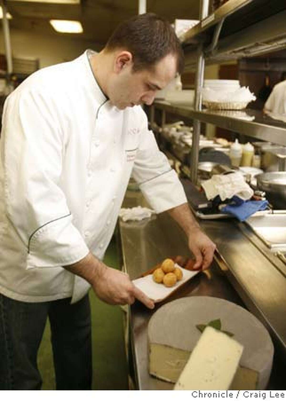 ###Live Caption:Richard Corbo, chef at Ducca preparing his dish, Crispy Risotto Fritter made with Spiced Sottocenere Cheese and Vialone Nano Rice. photo by Craig Lee / The Chronicle###Caption History:Richard Corbo, chef at Ducca preparing his dish, Crispy Risotto Fritter made with Spiced Sottocenere Cheese and Vialone Nano Rice. photo by Craig Lee / The Chronicle###Notes:Craig Lee 415-218-8597 clee@sfchronicle.com###Special Instructions:MANDATORY CREDIT FOR PHOTOG AND SF CHRONICLE/NO SALES-MAGS OUT