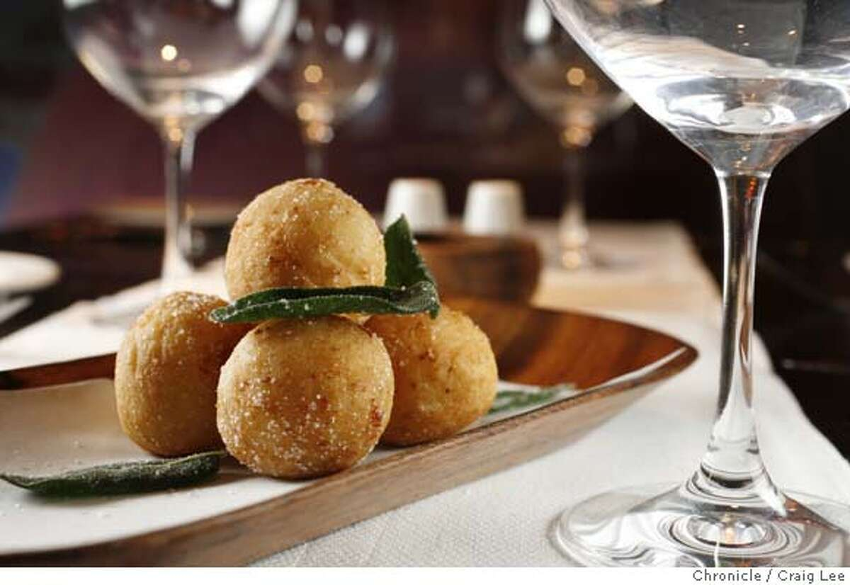 ###Live Caption:Crispy Risotto Fritter made with Spiced Sottocenere Cheese and Vialone Nano Rice made by Richard Corbo, chef at Ducca restaurant. photo by Craig Lee / The Chronicle###Caption History:Crispy Risotto Fritter made with Spiced Sottocenere Cheese and Vialone Nano Rice made by Richard Corbo, chef at Ducca restaurant. photo by Craig Lee / The Chronicle###Notes:Craig Lee 415-218-8597 clee@sfchronicle.com###Special Instructions:MANDATORY CREDIT FOR PHOTOG AND SF CHRONICLE/NO SALES-MAGS OUT