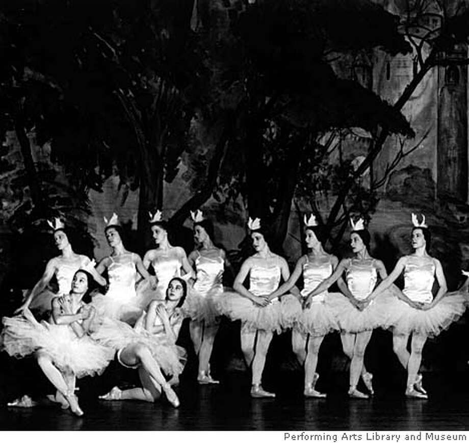 THIS IS A HANDOUT IMAGE. PLEASE VERIFY RIGHTS. SF School 1942: San Francisco Ballet School in 1942 under the direction of Harold Christensen (photo courtesy of PALM) Ran on: 03-02-2008  The San Francisco Ballet School in 1942, when it was under the direction of Harold Christensen. Photo: HO