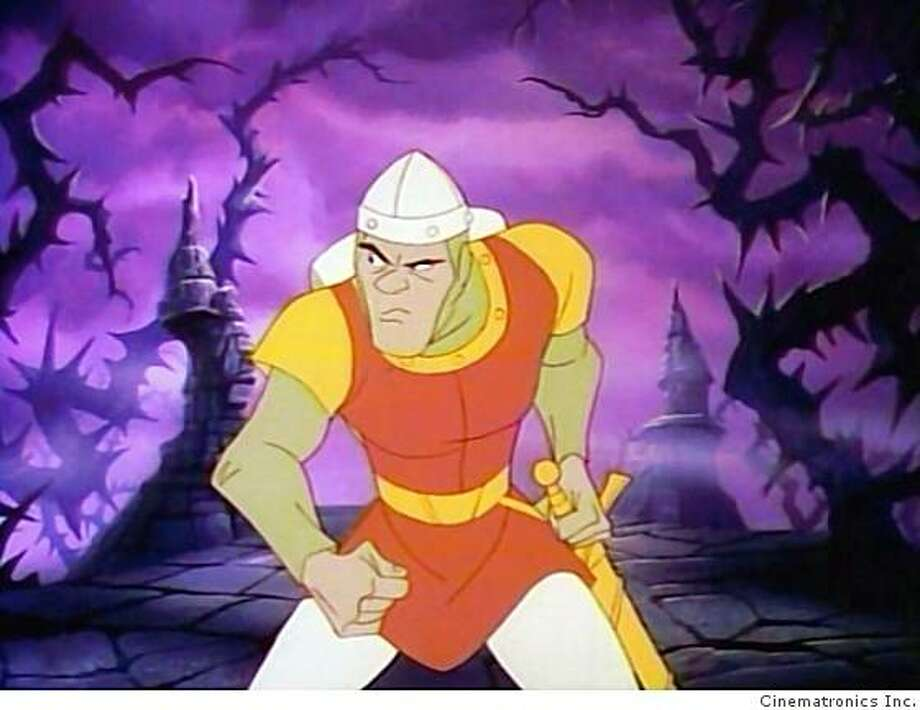 Dragon's Lair featured animation by Don Bluth. Photo: Cinematronics Inc.