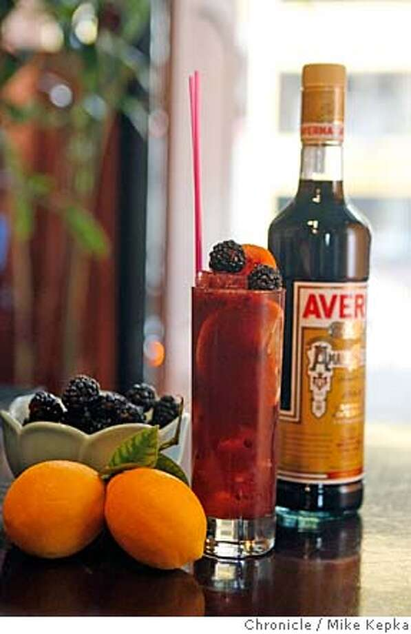 The Cantina specializes in making a Midnight Smash with Averna amaro, cointreau, blackberries, meyer lemons and ginger beer, on Saturday, Feb. 23, 2008 in San Francisco, Calif. Photo by Mike Kepka / San Francisco Chronicle MANDATORY CREDIT FOR PHOTOG AND SAN FRANCISCO CHRONICLE/NO SALES-MAGS OUT Photo: Mike Kepka