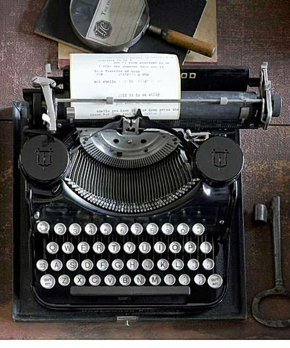 Underwood typewriter from the 1920s, $175, at the Perish Trust in San Francisco.
