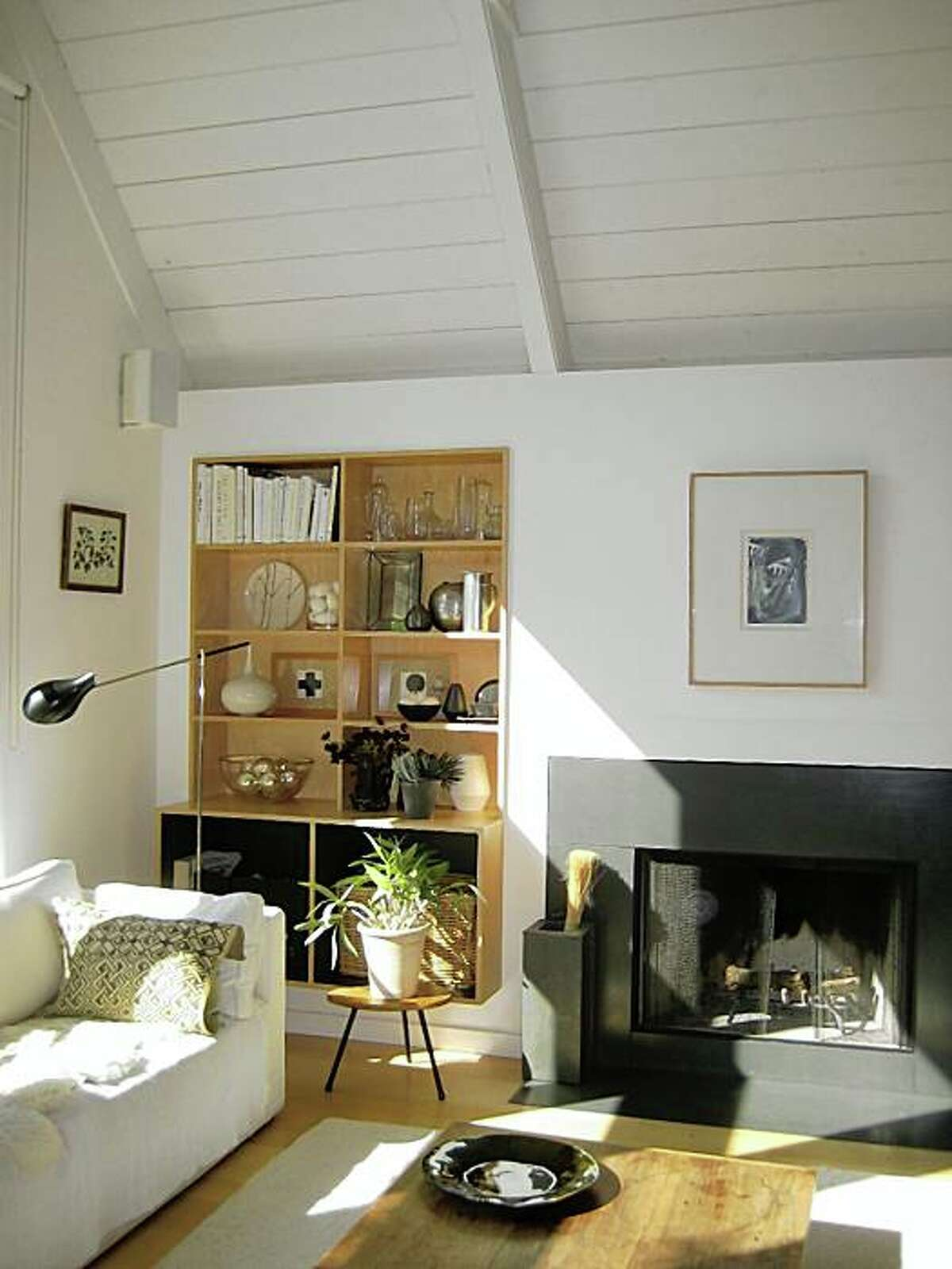 Julie Carlson's Mill Valley living room, architecture by Jerome Buttrick.