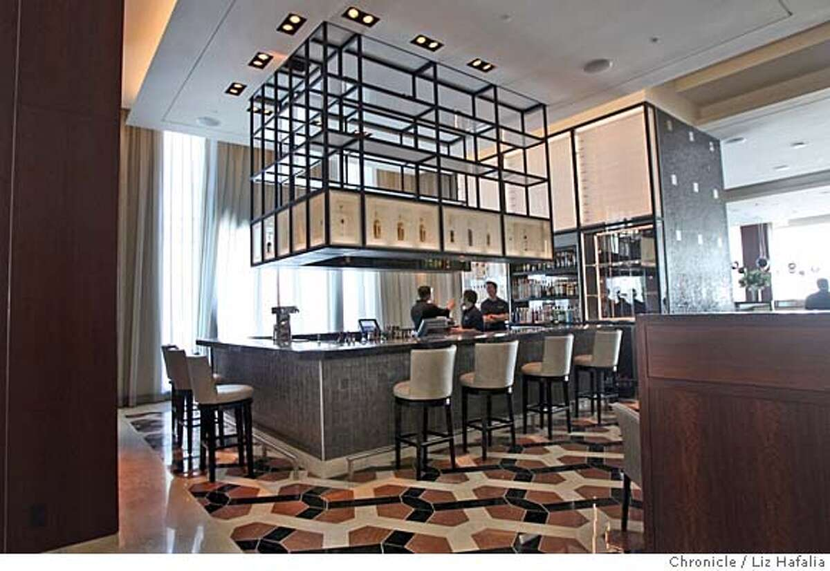 Bar 888, the new bar at the Intercontinental Hotel in San Francisco, Calif.for the Wine Section's Sipping News , taken on Tuesday, 2/27/08. Photo by Liz Hafalia/San Francisco Chronicle �2008, San Francisco Chronicle/ Liz Hafalia MANDATORY CREDIT FOR PHOTOG AND SAN FRANCISCO CHRONICLE. NO SALES- MAGS OUT.