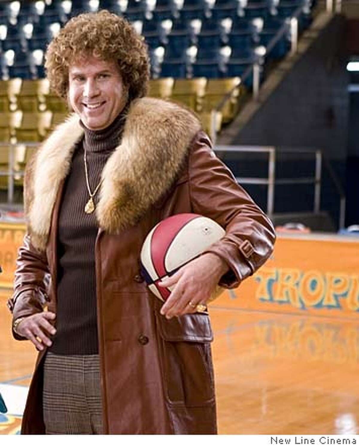 """Andrew Daly (left) as Dick Pepperfield and Will Ferrell as Jackie Moon in New Line Cinema's """"Semi-Pro"""" 2008 Semi-Pro , February 16, 2007 Photo by Frank Masi/newline.wireimage.com To license this image (13192841), contact NewLine: U.S. 1-212-686-8900 / U.K. 44-207-868-8940 / Australia 61-2-8262-9222 / Japan: 81-3-5464-7020 1 212-686-8901 (fax) info@wireimage.com (e-mail) NewLine.wireimage.com (web site)"""