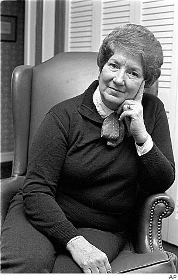 This March 1984 Picture Shows Mary Lou Forbes The Longtime Washington Times Commentary Editor
