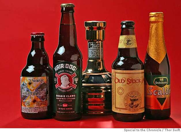 Bottles of high alcohol beers for the beer column photographed Thursday, Jan. 3, 2008 at the San Francisco Chronicle studio.  Thor Swift For The San Francisco Chronicle Photo: Thor Swift