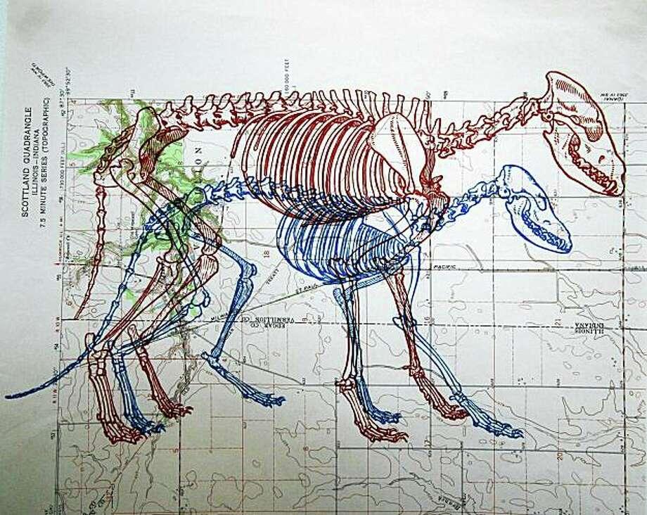 "Adrian Van Allen's ""Natura Historia [Revised] Stroll No.3"" appears in ""Anatomies"" at Compound Gallery in Oakland. Photo: Adrian Van Allen"