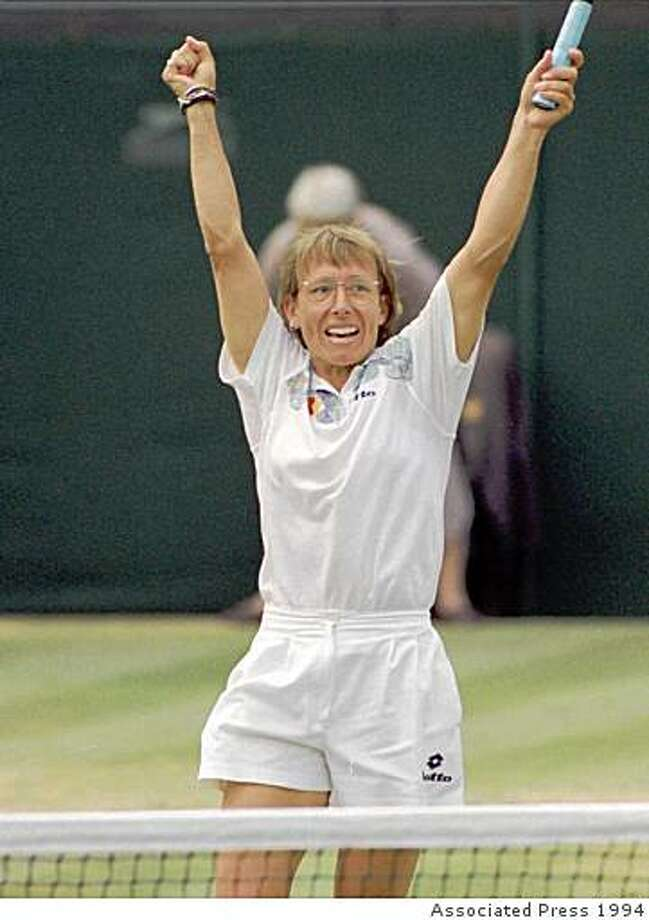 Martina Navratilova: The legendary tennis star came out as a lesbian in 1981. Photo: Associated Press 1994