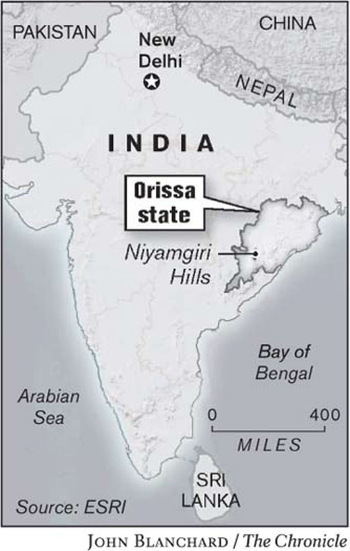 India. Chronicle graphic by John Blanchard