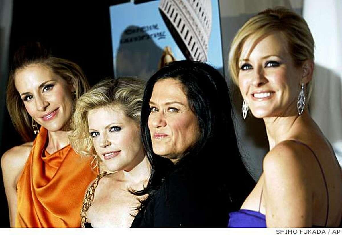 Filmmaker Barbara Kopple, third from left.
